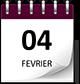Save the date 04 fev violet