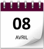 Save the date 08 avril violet 1