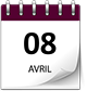 Save the date 08 avril violet