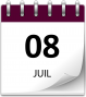 Save the date 08 juil violet