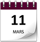 Save the date 11 mars violet