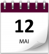 Save the date 12 mai violet 1