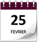 Save the date 25 fev