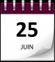 Save the date 25 juin violet