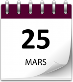 Save the date 25 mars grand 1