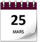 Save the date 25 mars