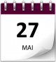 Save the date 27 mai violet