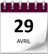 Save the date 29 avril violet 1