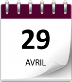 Save the date 29 avril violet